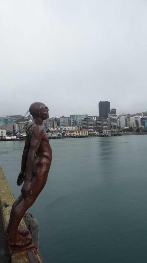 Traurig schön passt er perfekt in die Bucht von Wellington: Nude Iron Man